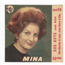 """MINA : Due Note / MARIO D'ALBA : Uno Spicchio Di Luna - 7"""" ITALIA 1960"""