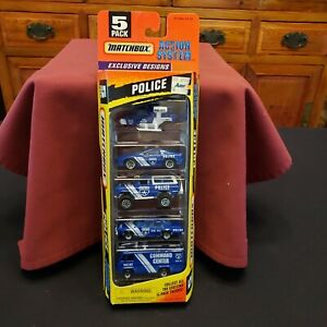 NEW OLD STOCK Matchbox 1996 POLICE ACTION SYSTEM 5 Pack of Models