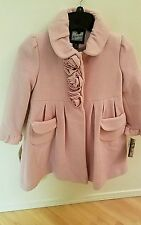 NEW Rothschild Winter Special Occasion Pink Wool Coat Jacket Hat Girls Sz 6X