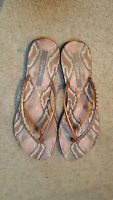 Grendha sandals/thongs - bronze colour, size 9 US / 40 EUR - as new condition