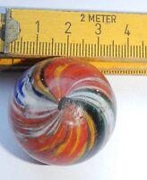 Murmel Glas Glasmurmel marble JOSEPH SWIRL SEHR ALT  1 6/16 inches, 3,4 cm