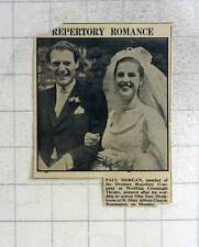 1949 Paul Morgan, Overture Repertory Company Weds June Monkhouse