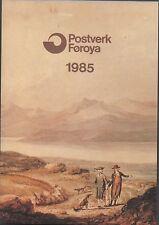 POSTVERK FOROYA FAROE ISLANDS STAMP YEAR PACK 1985 COMPLETE MNH STAMPS