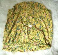old navy junior sz L 10-12 halter yellow keyhole floral pullover shift dress