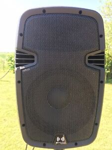 """A Pair Of Ekho RS10A 10"""" Active Powered PA Speakers 400 Watt With Stands"""