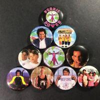 Black Comedy Heathers Pin Back Button Set