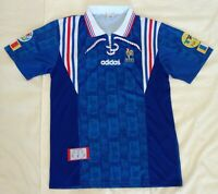 1996 France retro vintage classic soccer football team home t-shirt jersey tw