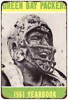 "1961 Green Bay Packers Mud Vintage Rustic Retro Metal Sign 8"" x 12"""