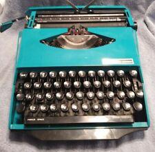Vintage  Mid Century Smith Corona Super G Aqua Portable Typewriter