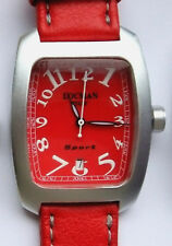LOCMAN  CLASSIC BARREL-SHAPED  SPORT WATCH Model 488 RED. NEW, Made in Italy.