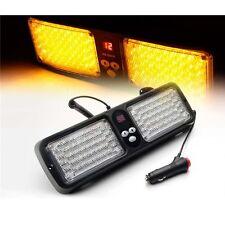 SUV Car Sun Visor SunShield Amber Emergency Warning Strobe 86 LED Light Bar Lamp