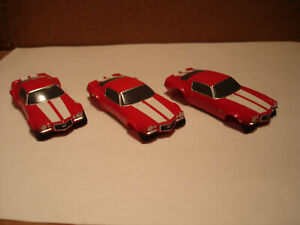 3 TOMY AFX BODY ONLY 1970'S CHEVROLET CAMARO SS350 TRANS AM BODY RED FITS 1.7