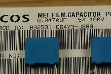 150pcs  47nf 400V 5% Capacitor polyester R10mm B32531C6473J EPCOS