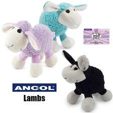 Ancol Cute Plush Lamb Soft Cuddly Comforter Puppy Small Dog Lilac Blue Black