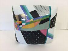 Rosenthal Porcelain Brigitte Doege Vase Multi Color Abstract, 1980's Signed
