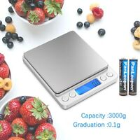 3000g0.1g Electronic Digital Kitchen Food Cooking Weight Balance Scale Accurate