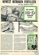 1957 Print Ad of Commercial Solvents Corp Hi-D Ammonium Nitrate Farm Fertilizer