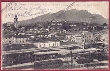 VARESE CITTÀ 249 STAZIONE TRAM TRENI ELETTRICI SACRO MONTE Cartolina viagg. 1906