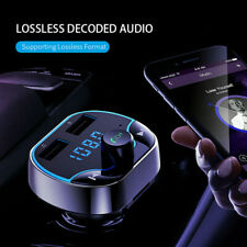 Universal 4.2 Bluetooth Fast Car Charger FM Transmitter Radio Double USB Adapter
