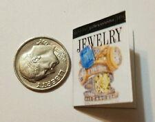 Miniature Dollhouse  Barbie 1/12 Scale Book Jewelry Cartier  Tiffany Rolex M