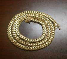 "30"" 14k Gold Finish Silver Miami Cuban Link Chain, 105 grams 6 mm"