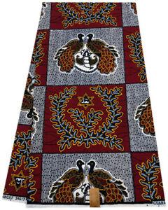 100% Cotton Africa Ankara Wax Print Fabric 6 Yards-