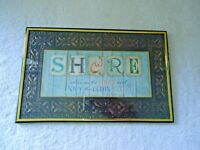 "Vintage Special Moments Memories Collection Wall Art "" SHORE "" Framed Picture"