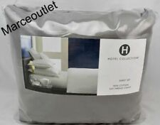 Hotel Collection 525 Thread Count 100% Cotton King Flat Sheet & Cases Smoke Gray