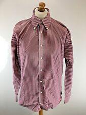 TOMMY HILFIGER Mens Shirt XL Red Blue White Stripe Cotton