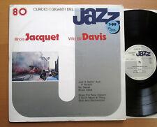 Illinois Jacquet Wild Bill Davis 1973 NM Vinyl LP - I Giganti Del Jazz GJ-80