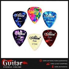 6 x Alice Mixed Gauges Premium Celluloid Guitar Picks Plectrums