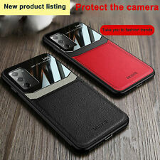 For Samsung Galaxy Note 20 Ultra / Note 20 Leather Rubber Shockproof Case Cover