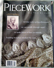 Piecework Mar Apr 1994 Mourning Quilts Crochet Buttons Shetland Lace Knitting