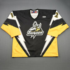 2010-11 Marcus Watson Stockton Thunder Game Used Worn ECHL Hockey Jersey!