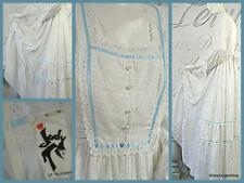 Vintage 70's festival white tiered maxi dress Edwardian Victorian flower child S
