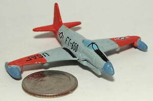 Small Micro Machine US Air Force F-80 Shooting Star Jet Fighter Aircraft No Whee