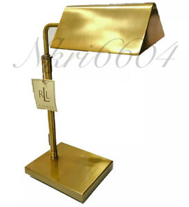 Ralph Lauren Lamp Modern Agatha O Banker Pharmacy Desk Table Gold Golden Bronze