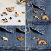 Chic Rainbow LGBT Gay Pride Peace Enamel Piercing Pin Brooch Badge Friend Gift