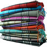 Wholesale Lot Check Plaid Unisex 100% CASHMERE Tartan Stripe Scarf Wool SCOTLAND