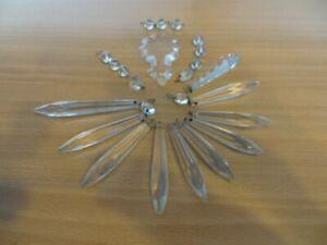 anciennes pampilles en cristal pour lustre