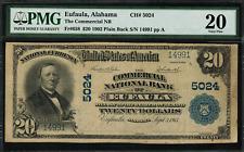 1902 $20 National - Eufaula, Alabama - Plain Back - FR.658 Charter 5024 - PMG 20