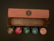 Vintage Sanford's Penit Miniatures Ink Bottles Set Of 5 With Box
