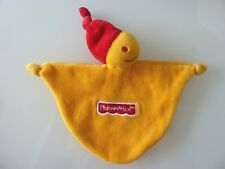 N7- DOUDOU PLAT FISHER PRICE LUTIN JAUNE ET ROUGE   -TBE