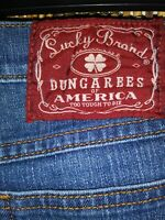 Lucky Brand Dungarees~Blue Jeans by Gene Montesano~ Size 6/28  Inseam USA