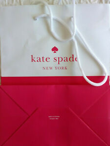 "Kate Spade Empty Paper Shopping Bag 8"" X 10"" X 4 1/2"" High End Gift Bag"