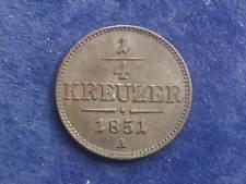 """1/4 Kreuzer 1851 A  Wien Franz Josef """" Erhaltung """"  W/18/245"""