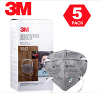 5 PACK N95 3M 9542 KN95 Disposable Face Mask Cover:NIOSH CDC Approved Respirator