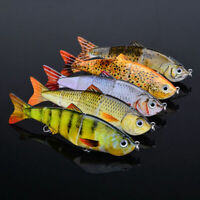 Fishing Fish Lures Baits Bass Crankbait Swimbait Jointed Pike Trout Tackle C9R2