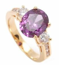 Engagement Round Amethyst Fine Rings
