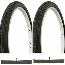 2 BLACK 26x2.125 BEACH CRUISER BIKE SMALL BRICK TIRES/ TUBES fits SCWHINN